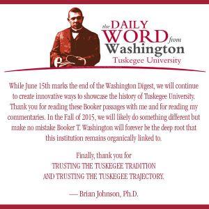 Cessation of Washington Word (One Year)